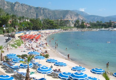 Intensive French Immersion & Homestay Program - One of the main public beaches in Beaulieu-sur-Mer, France